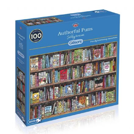 Authorful Puns by Jelly Armchair 1000 Piece Gibsons Jigsaw
